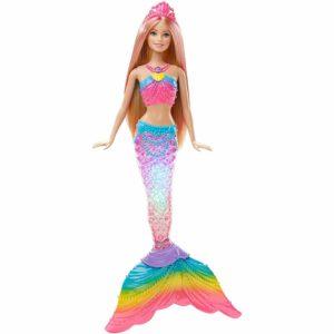 geschenkideen-fuer-maedchen-mattel-barbie-dhc40-modepuppen-regenbogenlicht-meerjungfrau