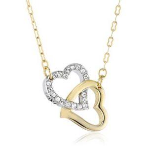 geschenkideen-zum-valentinstag_swarovski-damen-halskette-match-vergoldeter-und-rhodinierter-edelstahl-38-cm