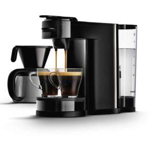 Top 10 Geschenkideen - Platz-3_Senseo HD7892/60 Switch 2-in-1 Kaffeemaschine für Filter und Pads, Schwarz
